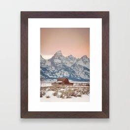 That Alpine Glow Framed Art Print