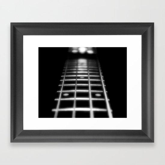 Guitar Fret Framed Art Print