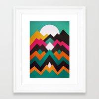 moonrise Framed Art Prints featuring Moonrise by Elisabeth Fredriksson