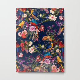 FLORAL AND BIRDS XII Metal Print