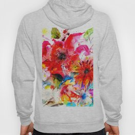 Watercolor garden II Hoody