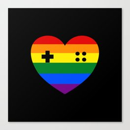 Rainbow Gamer Canvas Print
