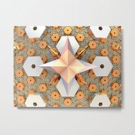 Hexagon Meadows Metal Print