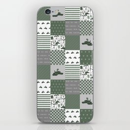 Snake House cheater quilt patchwork wizarding witches and wizards iPhone Skin