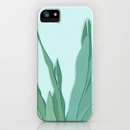 Minimal Snake Plant Leaves - Greener Eden iPhone Case