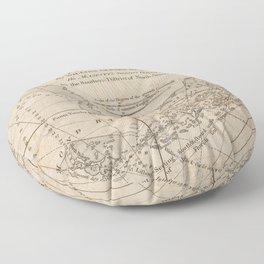 Vintage Map of The Florida Keys (1771) Floor Pillow