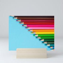 Rainbow Colored Pencils Mini Art Print