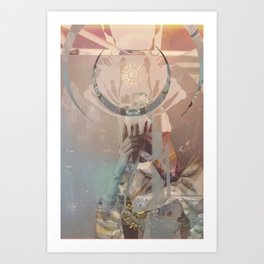 Thoth Observes the Masquerade Art Print
