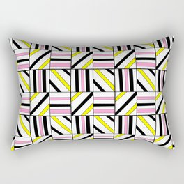 symetric tartan and gingham 2 -vichy, gingham,strip,square,geometric, sober,tartan Rectangular Pillow