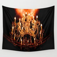 chandelier Wall Tapestries featuring Chandelier by Jessica Lindstrom