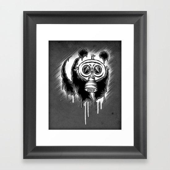Choked Panda Framed Art Print