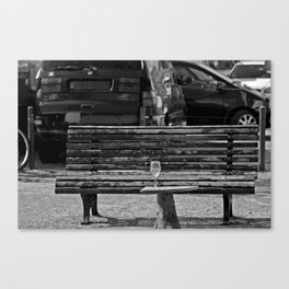 Somebody's glass of wine Canvas Print