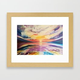 Be a Rainbow, Colorful Sunset, Beach Sunset, Beautiful Sunset Framed Art Print