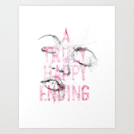 A truly happy ending Art Print