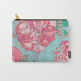 Pink roses, floral print in pastels Carry-All Pouch