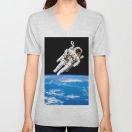 Astronaut Bruce McCandless Floating Free Unisex V-Neck
