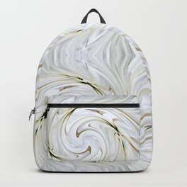 Abstract White, Grey and Cream Design 634 Backpack