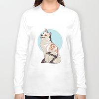 shiba inu Long Sleeve T-shirts featuring Shiba Inu Kitsune by AlliePets