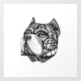 Ornate American Bully Art Print