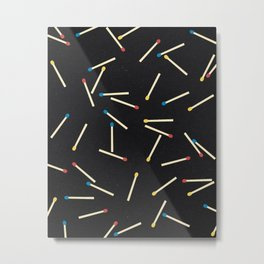 Matchsticks Metal Print
