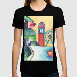 cityline in dots T-shirt