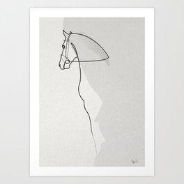 OnelineHorse 2803 Art Print