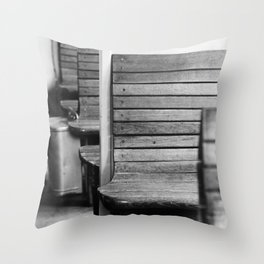 Old train compartment 2 - Altes Zugabteil 2 Throw Pillow