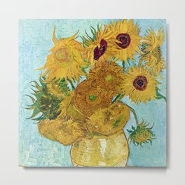 "Vincent van Gogh,"" Vase with Twelve Sunflowers "" Metal Print"