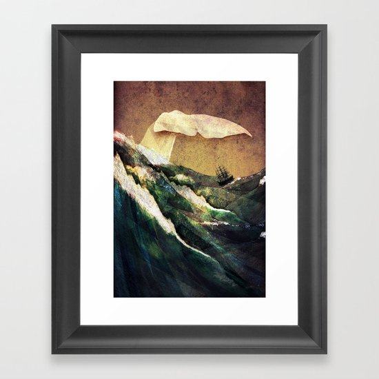 Moby Dick Framed Art Print