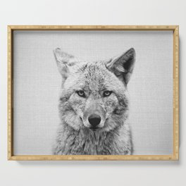 Coyote - Black & White Serving Tray