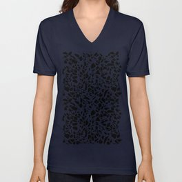 Terrazzo Spots Black on Blush Repeat Unisex V-Neck