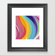 Fig. 045 Colorful Swirls Framed Art Print