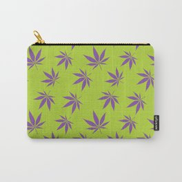 Marijuana leaves - green/purple Carry-All Pouch