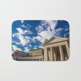 Piazza San Pietro, in the Vatican City; Rome Italy Bath Mat