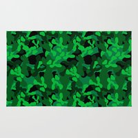 camouflage Area & Throw Rugs featuring Camouflage (Green) by 10813 Apparel