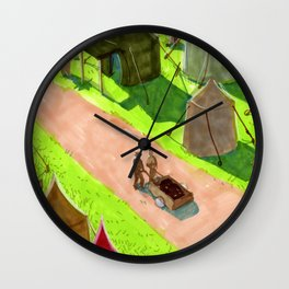 Aslan's camp Wall Clock