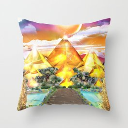 Evening Glow Throw Pillow