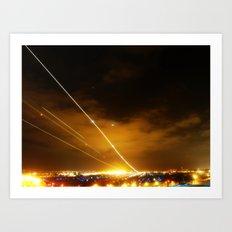 Plane Landing Art Print