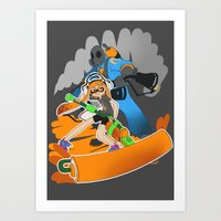 team fortress Art Prints featuring Ink Fortress 2 by Hexabeast