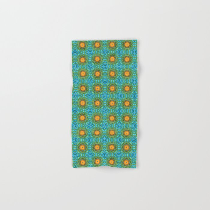 Yellow Salsify Flower Pattern Hand & Bath Towel