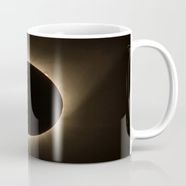 Flares - Total Solar Eclipse with Subdued Corona and Sun Bursts Coffee Mug