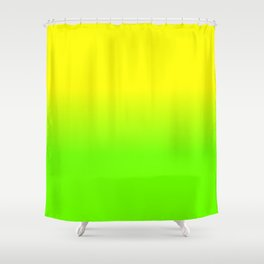 Neon Yellow and Neon Yello Green Ombré  Shade Color Fade Shower Curtain