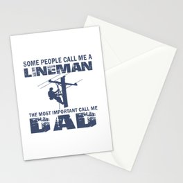 Lineman Dad Stationery Cards