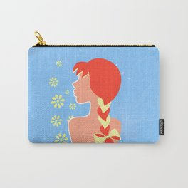 A redhead girl with a braid and a bow Carry-All Pouch
