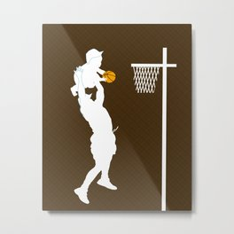 NEW Father's day Gift Guide - Father and son playing basketball Metal Print