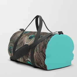 Peacock feathers abstract Duffle Bag