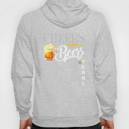 37th Birthday Shirt Cheers And Beers To 37 Years T-Shirt Hoody