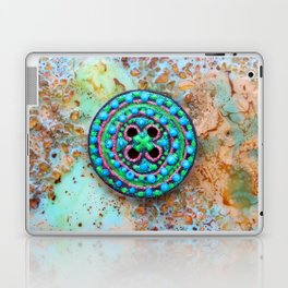 Button for happiness Laptop & iPad Skin