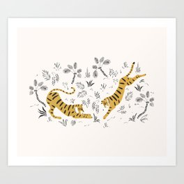 Tiger Dive Art Print