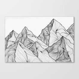 Curving Lines (Mountain Landscape) Canvas Print